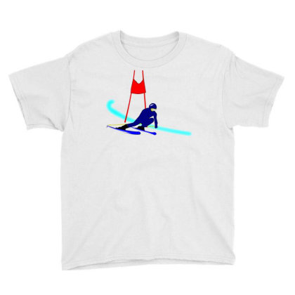 Competition Ski Slalom Sport Youth Tee Designed By Salmanaz