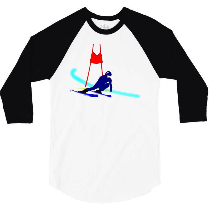 Competition Ski Slalom Sport 3/4 Sleeve Shirt | Artistshot
