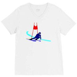 competition ski slalom sport V-Neck Tee | Artistshot