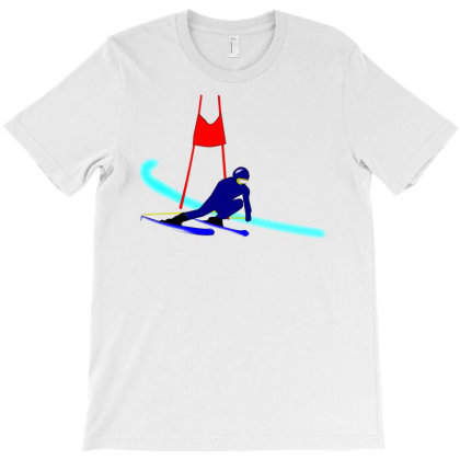 Competition Ski Slalom Sport T-shirt Designed By Salmanaz