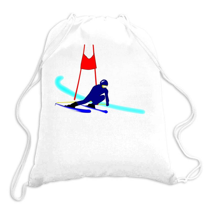 Competition Ski Slalom Sport Drawstring Bags   Artistshot