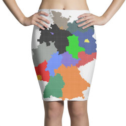 germany map Pencil Skirts | Artistshot