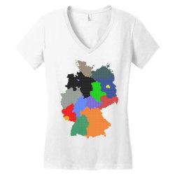 germany map Women's V-Neck T-Shirt | Artistshot
