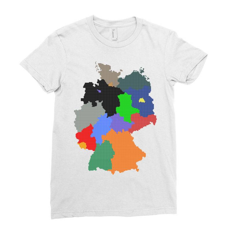 Germany Map Ladies Fitted T-shirt | Artistshot