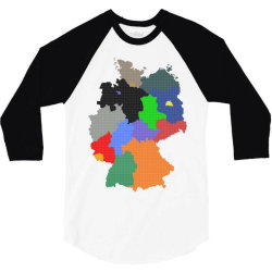 germany map 3/4 Sleeve Shirt | Artistshot
