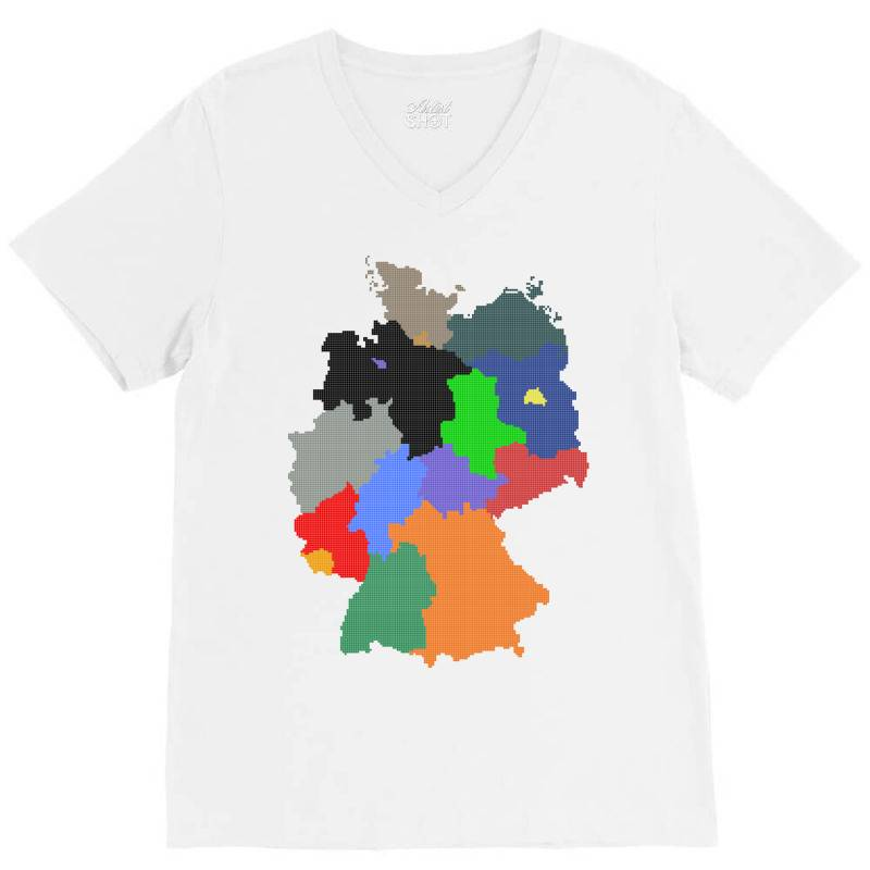 Germany Map V-neck Tee | Artistshot