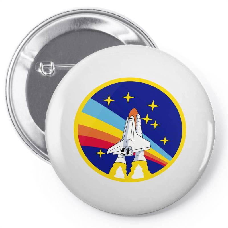 Rocket Space Pin-back Button | Artistshot