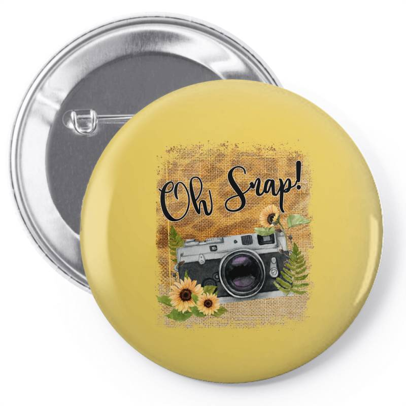 Oh Snap Pin-back Button   Artistshot