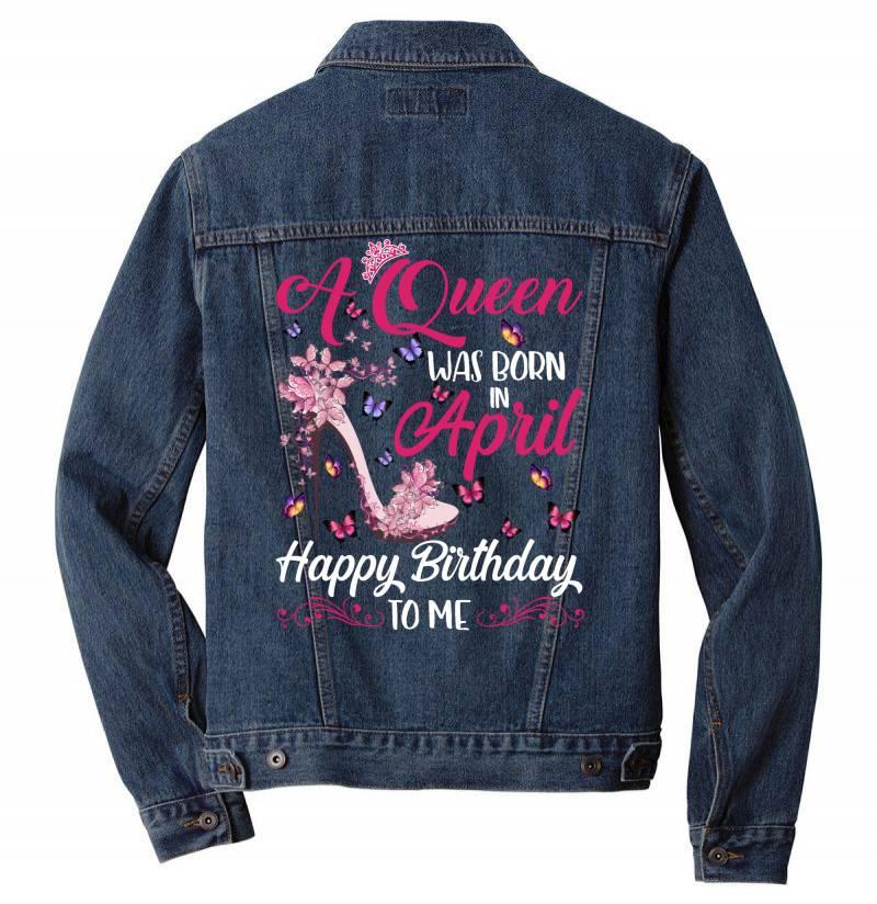 A Queen Was Born In February Happy Birthday To Me Men Denim Jacket | Artistshot