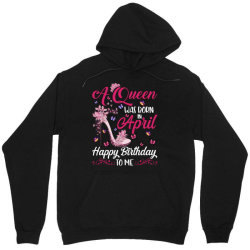 a queen was born in february happy birthday to me Unisex Hoodie | Artistshot