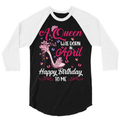 a queen was born in february happy birthday to me 3/4 Sleeve Shirt | Artistshot