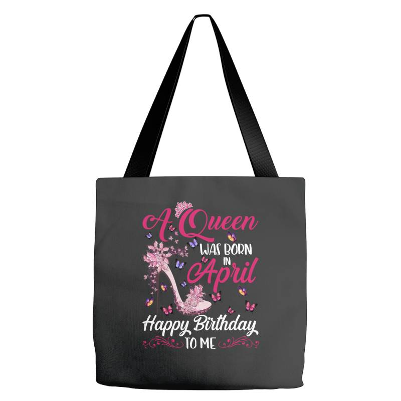 A Queen Was Born In February Happy Birthday To Me Tote Bags | Artistshot