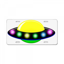rocket astronaut ufo planets space License Plate | Artistshot