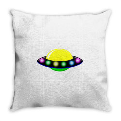 rocket astronaut ufo planets space Throw Pillow | Artistshot