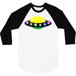rocket astronaut ufo planets space 3/4 Sleeve Shirt | Artistshot