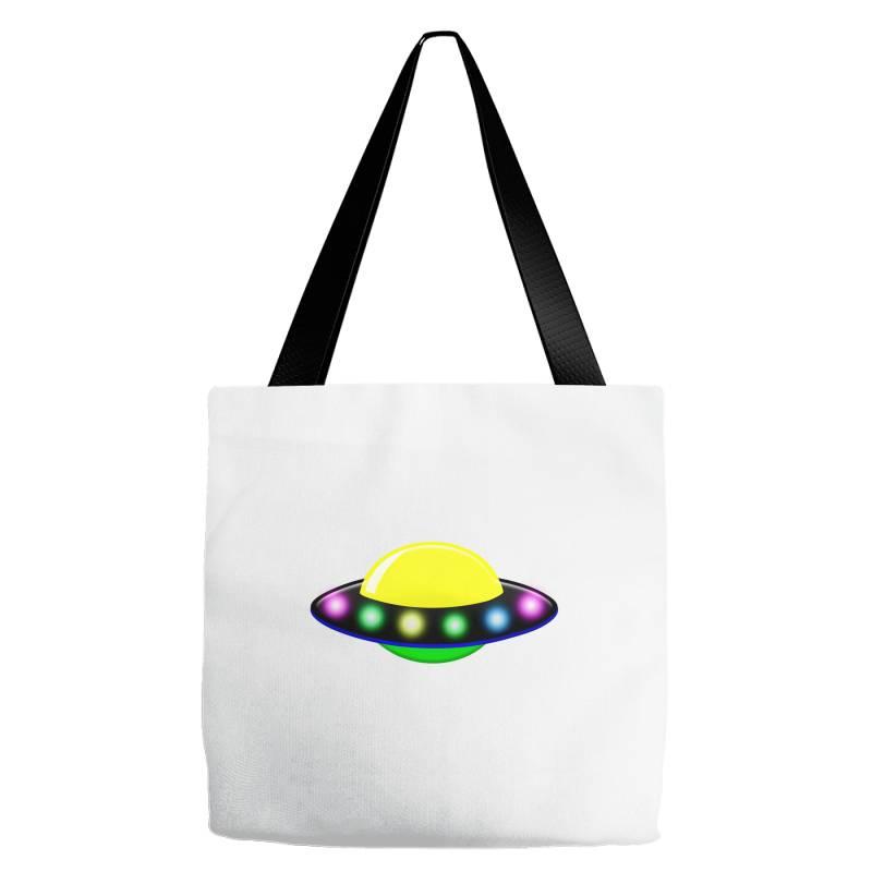 Rocket Astronaut Ufo Planets Space Tote Bags   Artistshot