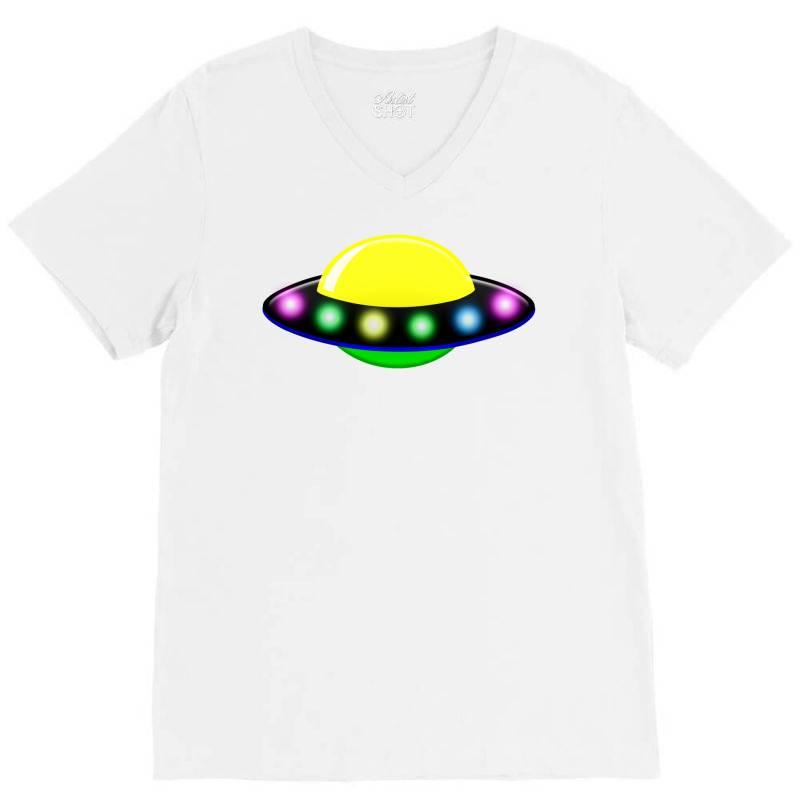 Rocket Astronaut Ufo Planets Space V-neck Tee | Artistshot