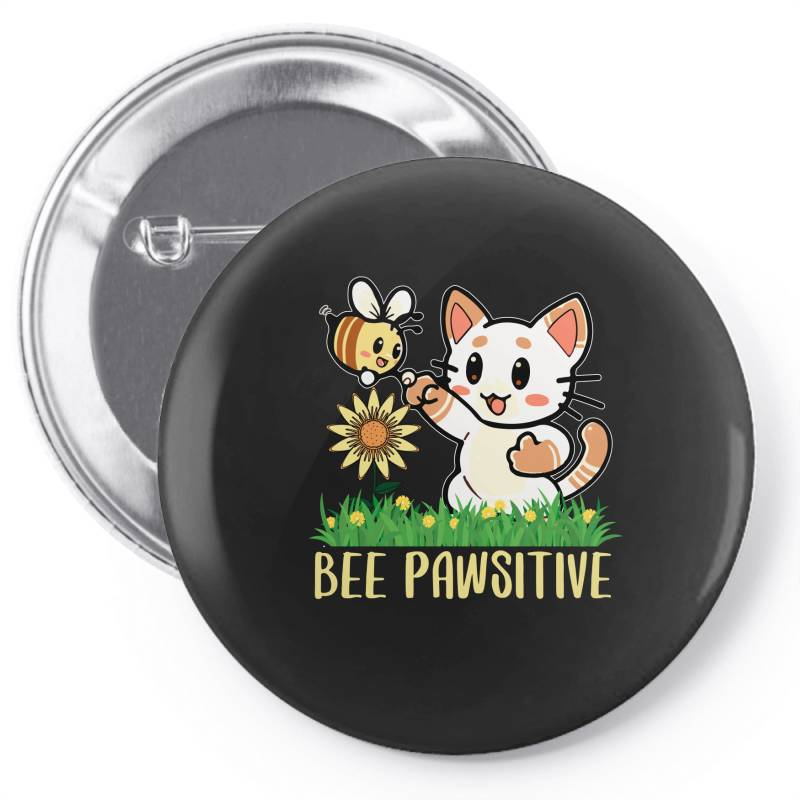 Bee Pawsitive Pin-back Button | Artistshot