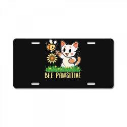 bee pawsitive License Plate | Artistshot