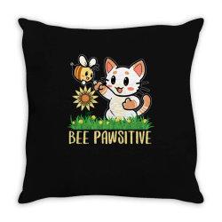 bee pawsitive Throw Pillow | Artistshot