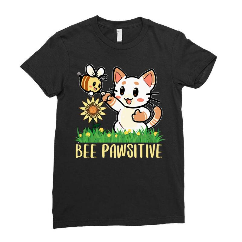 Bee Pawsitive Ladies Fitted T-shirt | Artistshot