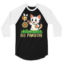 bee pawsitive 3/4 Sleeve Shirt   Artistshot