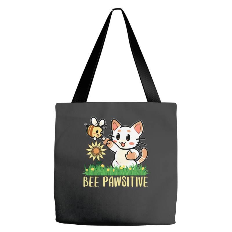 Bee Pawsitive Tote Bags   Artistshot