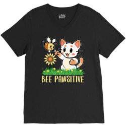bee pawsitive V-Neck Tee | Artistshot
