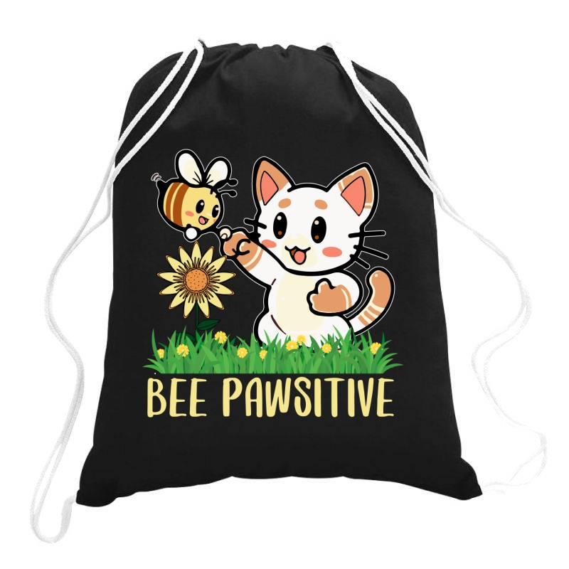 Bee Pawsitive Drawstring Bags   Artistshot