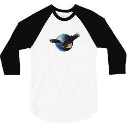 adler earth globus globe global 3/4 Sleeve Shirt   Artistshot