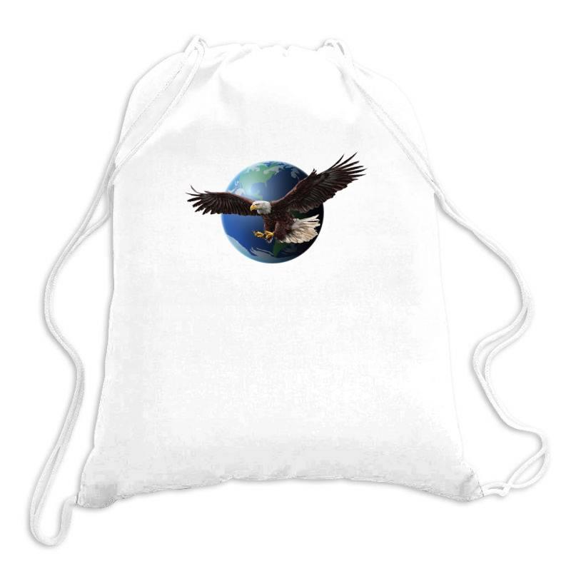 Adler Earth Globus Globe Global Drawstring Bags   Artistshot