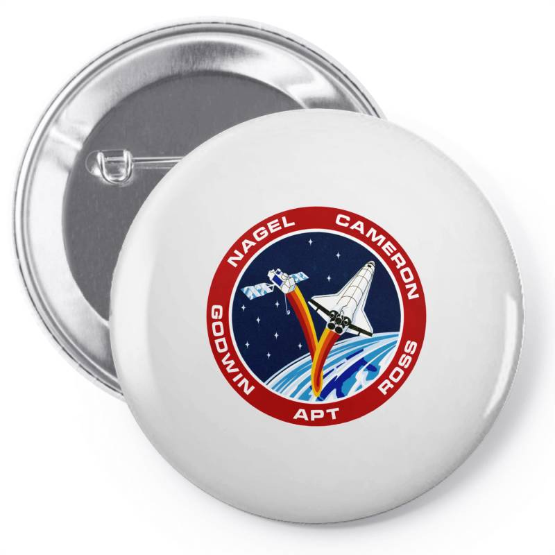 Space Shuttle Background Pin-back Button | Artistshot
