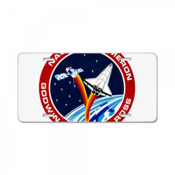 space shuttle background License Plate | Artistshot