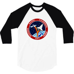 space shuttle background 3/4 Sleeve Shirt | Artistshot