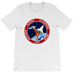 space shuttle background T-Shirt | Artistshot