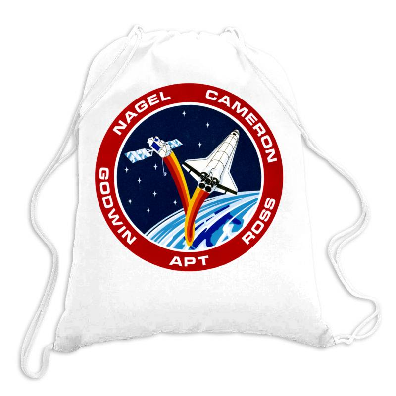 Space Shuttle Background Drawstring Bags | Artistshot