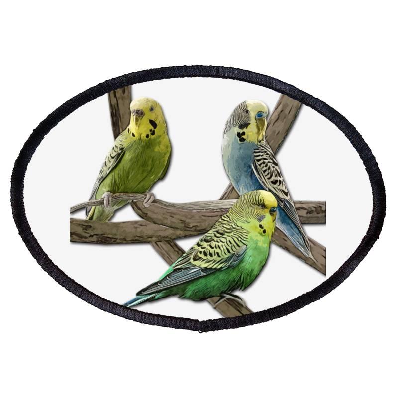 Bird Pet Budgie Parrot Animals Oval Patch | Artistshot