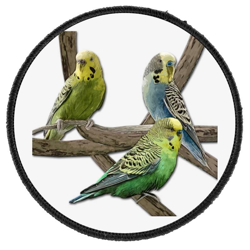 Bird Pet Budgie Parrot Animals Round Patch | Artistshot