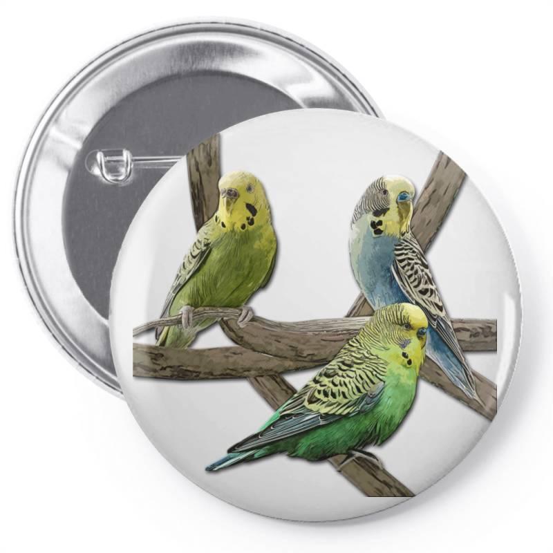 Bird Pet Budgie Parrot Animals Pin-back Button | Artistshot