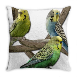 bird pet budgie parrot animals Throw Pillow | Artistshot