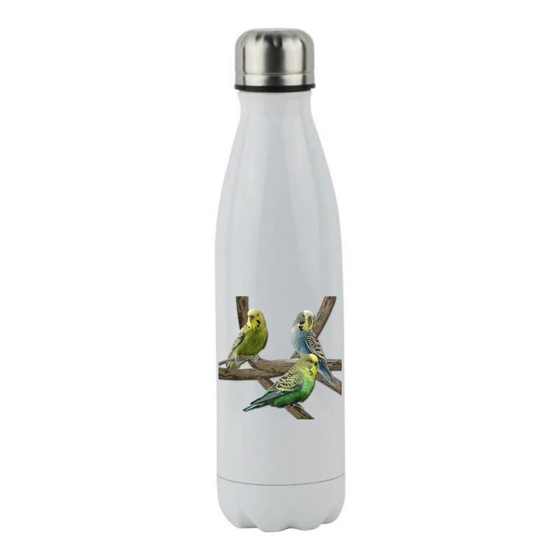 Bird Pet Budgie Parrot Animals Stainless Steel Water Bottle | Artistshot