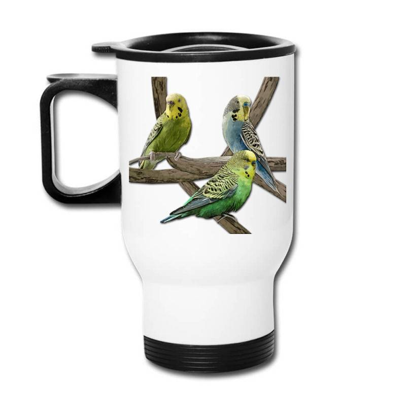 Bird Pet Budgie Parrot Animals Travel Mug   Artistshot