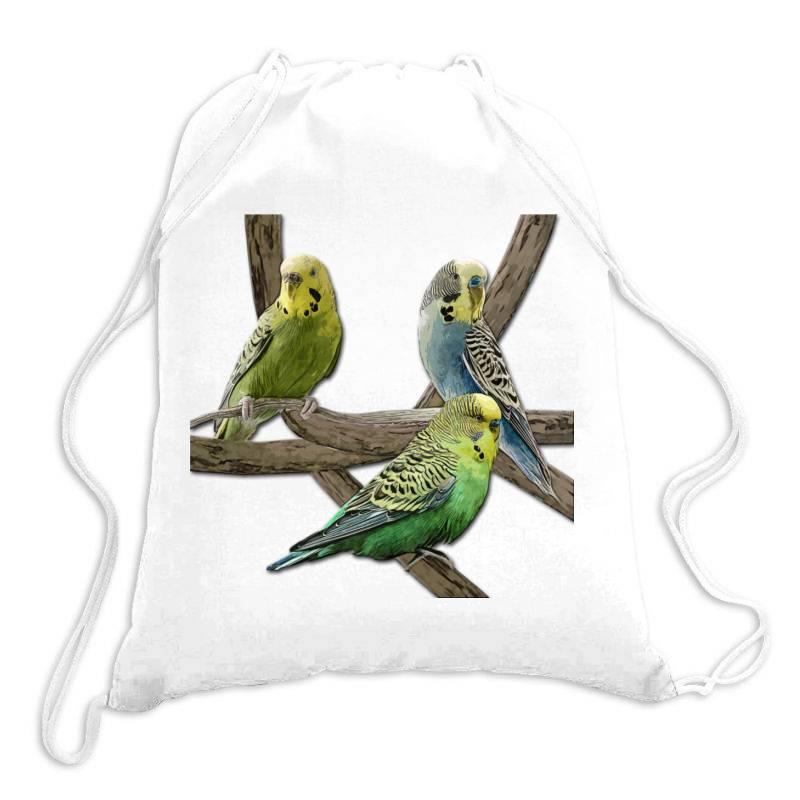 Bird Pet Budgie Parrot Animals Drawstring Bags | Artistshot
