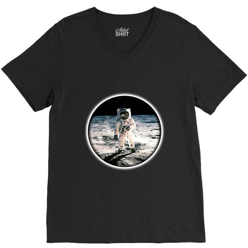 Astronaut Apollo V-neck Tee   Artistshot