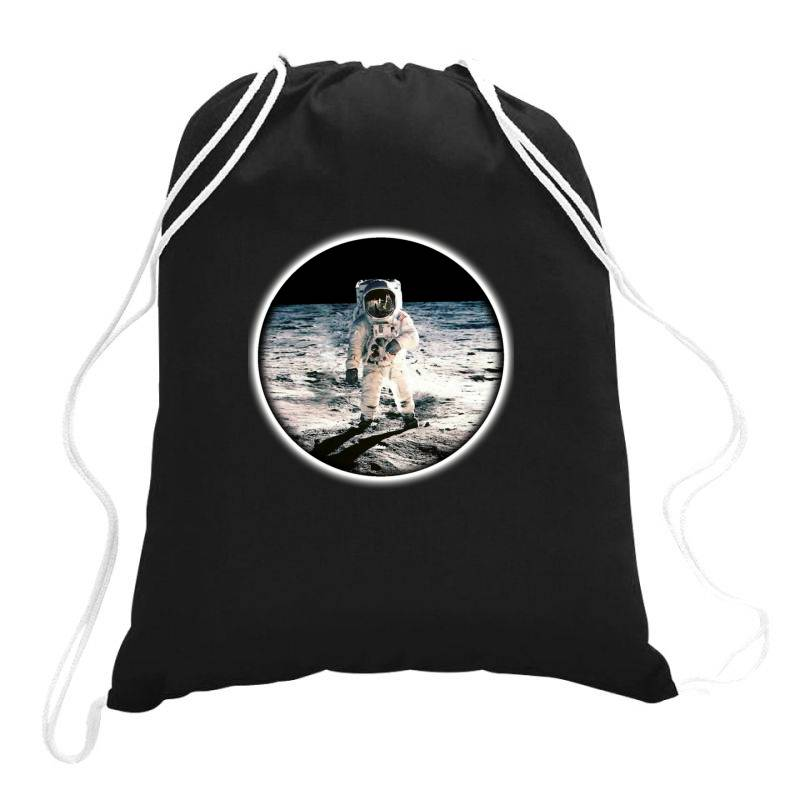Astronaut Apollo Drawstring Bags   Artistshot