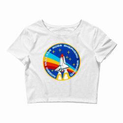 space shuttle program Crop Top   Artistshot