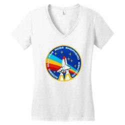 space shuttle program Women's V-Neck T-Shirt   Artistshot