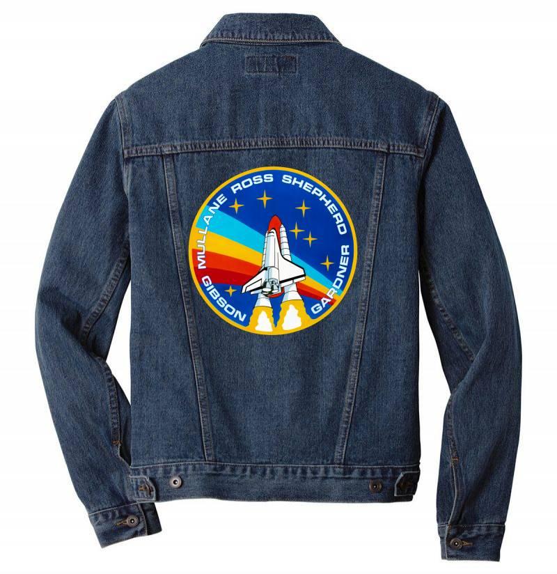 Space Shuttle Program Men Denim Jacket | Artistshot