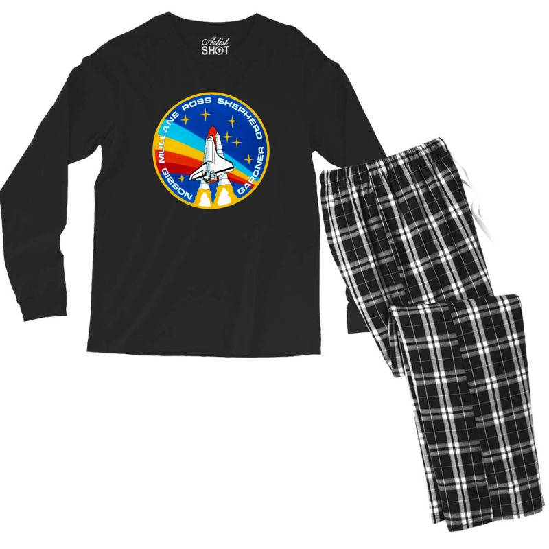 Space Shuttle Program Men's Long Sleeve Pajama Set | Artistshot