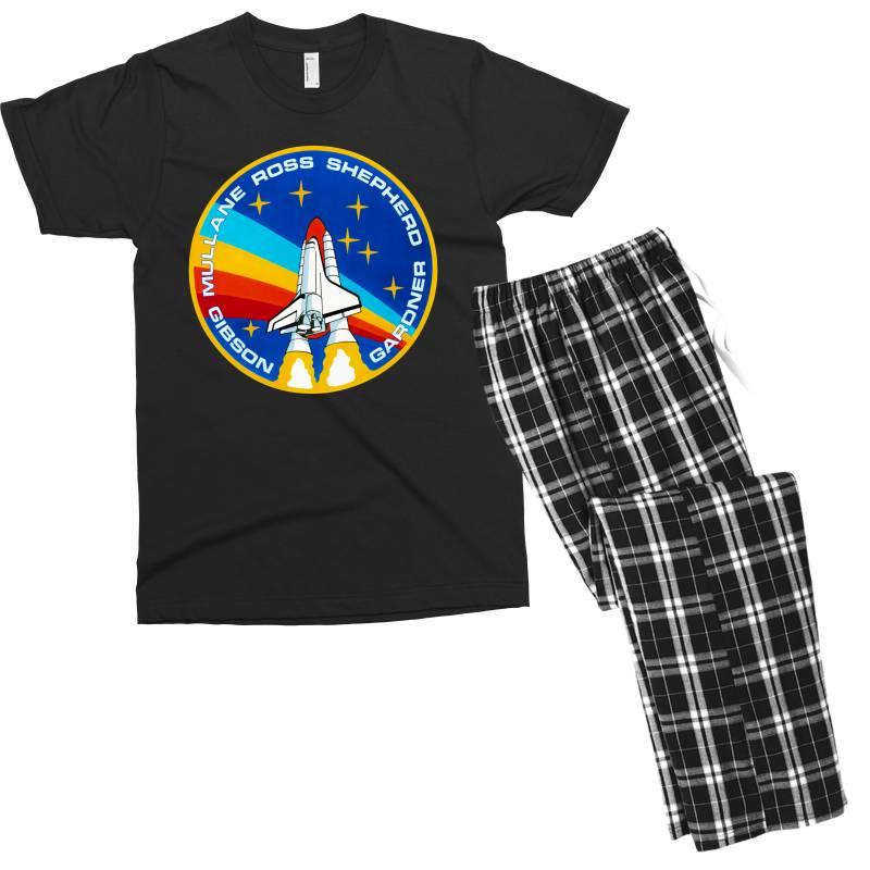 Space Shuttle Program Men's T-shirt Pajama Set | Artistshot